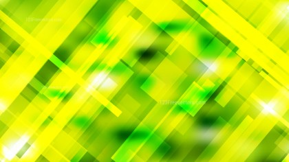 Geometric Abstract Green and Yellow Background