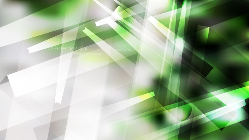 Green Black and White Lines Stripes and Shapes Background Graphic