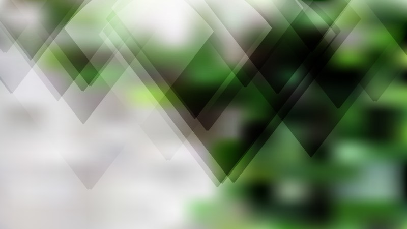 Geometric Abstract Green Black and White Background