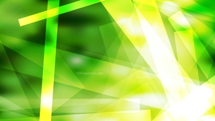 Green Yellow and White Geometric Shapes Background Vector Graphic