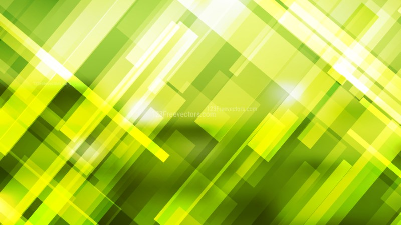 Abstract Green Yellow and White Modern Geometric Shapes Background