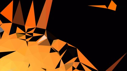 Orange and Black Modern Geometric Shapes Background Illustration