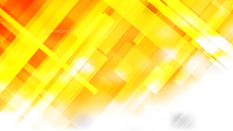 Orange and White Geometric Background Vector
