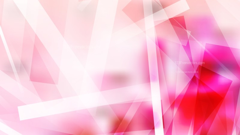 Abstract Pink and White Lines Stripes and Shapes Background