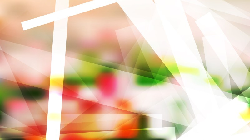 Abstract Geometric Pink Green and White Background