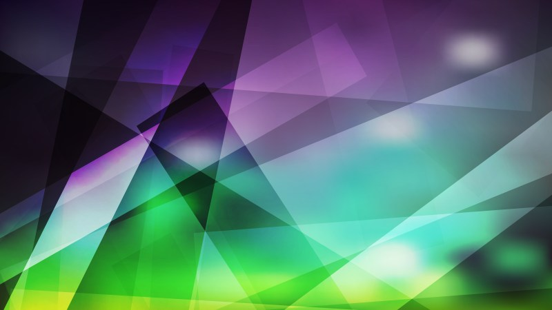 Purple and Green Lines Stripes and Shapes Background Graphic