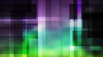 Purple and Green Modern Geometric Shapes Background