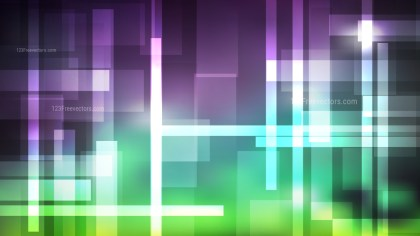 Abstract Purple and Green Lines Stripes and Shapes Background