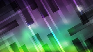 Abstract Purple and Green Geometric Shapes Background Vector Image