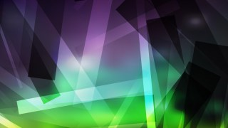 Abstract Purple and Green Lines Stripes and Shapes Background Vector Art