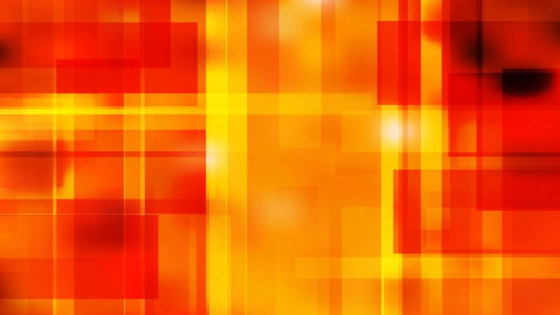 Abstract Red and Yellow Lines Stripes and Shapes Background Illustration