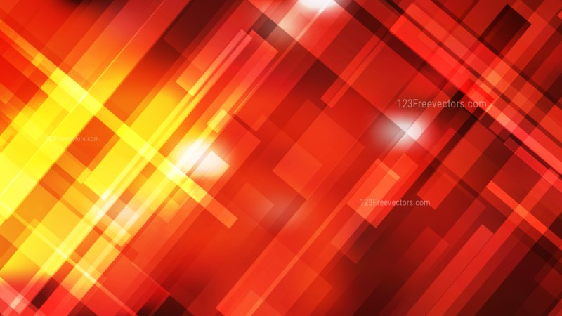 Abstract Red and Yellow Lines Stripes and Shapes Background Vector Illustration