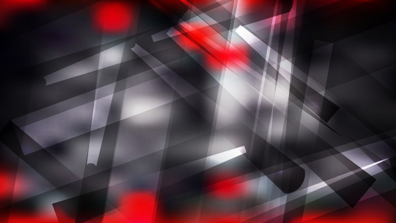 Geometric Abstract Red Black and White Background Vector