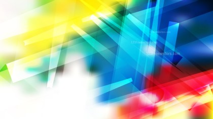 Abstract Red Yellow and Blue Modern Geometric Shapes Background