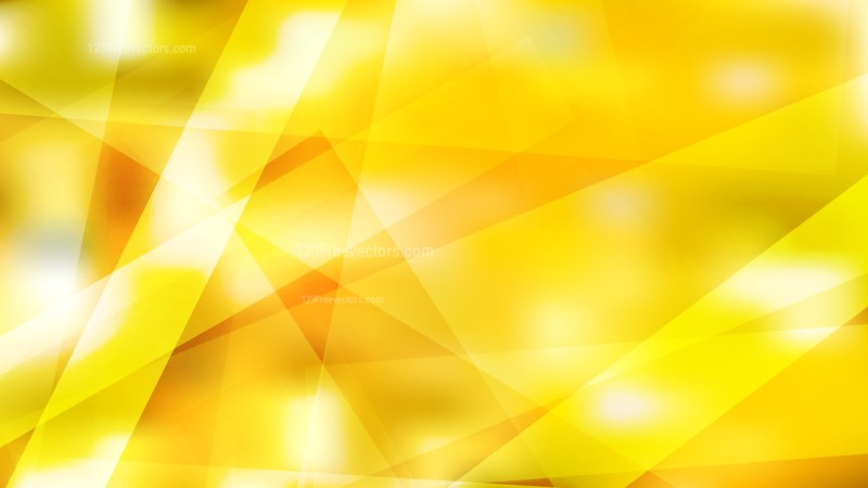 Yellow and White Lines Stripes and Shapes Background Vector