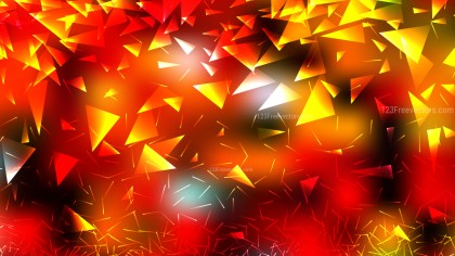 Abstract Black Red and Yellow Triangle Background
