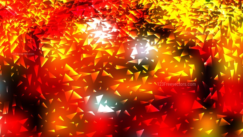 Abstract Black Red and Yellow Scattered Triangle Background