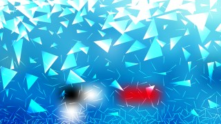 Blue and White Geometric Triangle Background