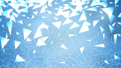Abstract Blue and White Geometric Triangle Background