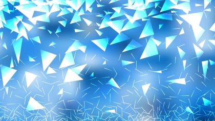 Blue and White Triangle Background Vector Art