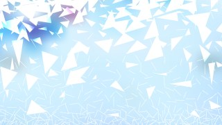 Blue and White Geometric Triangle Background Vector