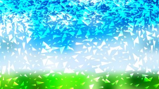 Blue Green and White Triangle Background Vector Image