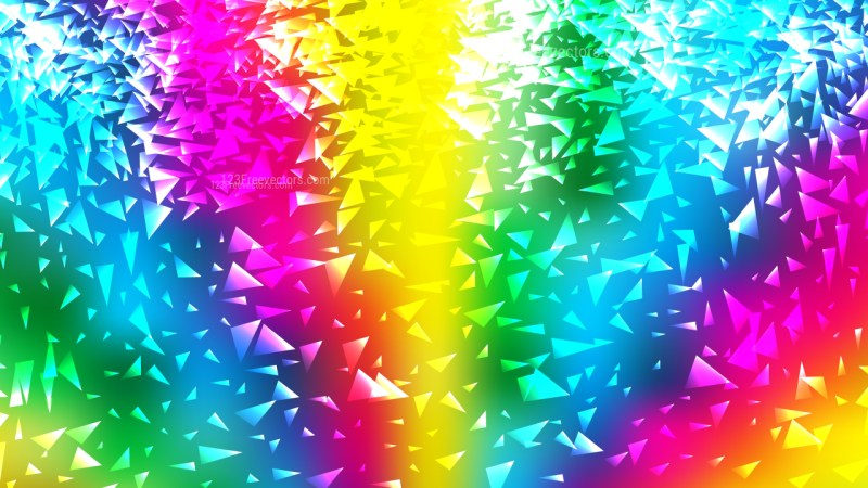 Colorful Triangle Background Illustration