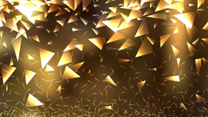 Abstract Gold Geometric Triangle Background