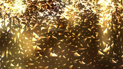Abstract Gold Triangle Background Vector Illustration