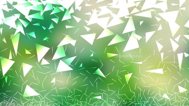 Green and White Irregular Triangle Background