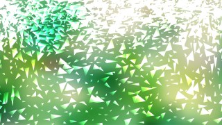 Abstract Green and White Irregular Triangle Background