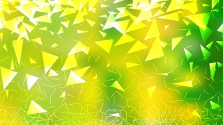 Abstract Green and Yellow Geometric Triangle Background