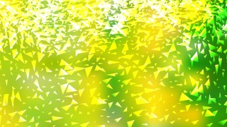 Green and Yellow Triangle Background