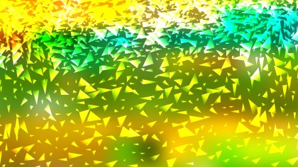 Abstract Green and Yellow Triangle Background Image