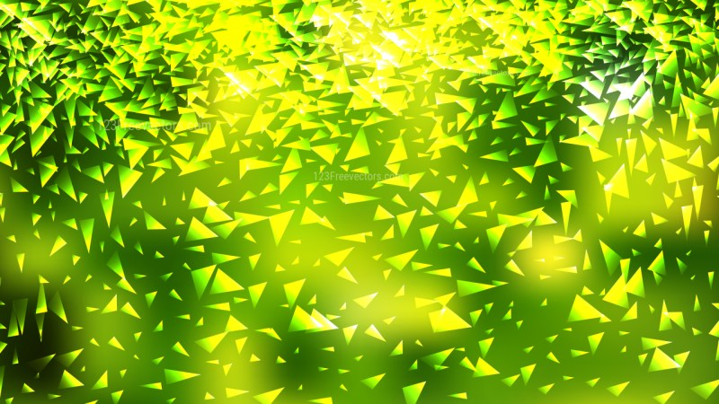 Green and Yellow Irregular Triangle Background