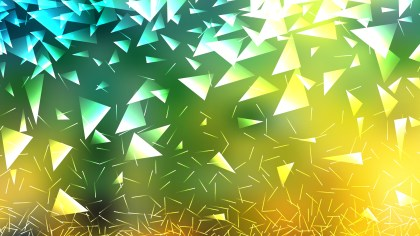 Green Yellow and White Scattered Triangle Background