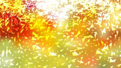 Orange and Green Triangular Background