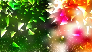 Abstract Orange White and Green Geometric Triangle Background