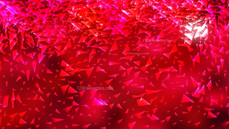 Pink and Red Geometric Triangle Background
