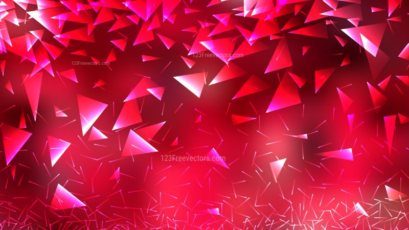Pink and Red Geometric Triangle Background Vector