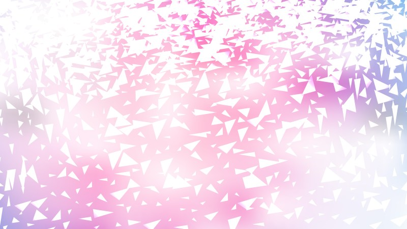 Pink and White Scattered Triangle Background