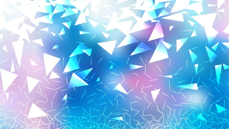Pink Blue and White Geometric Triangle Background Graphic