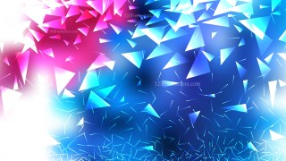 Pink Blue and White Polygon Triangle Background