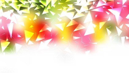 Abstract Pink Green and White Geometric Triangle Background