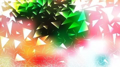 Abstract Pink Green and White Geometric Triangle Background Vector