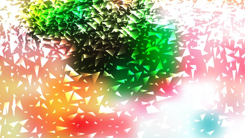 Pink Green and White Triangle Background Illustration