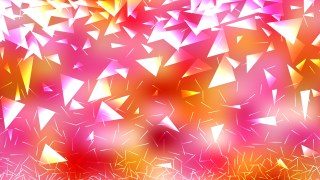 Abstract Pink Yellow and White Triangle Background Illustration