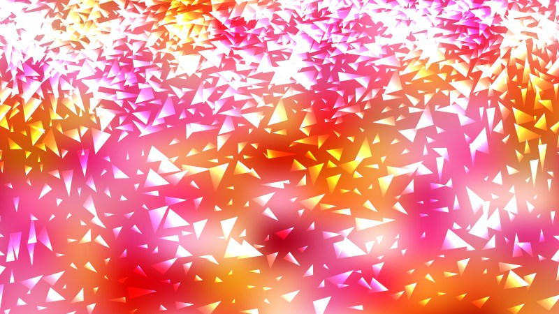 Pink Yellow and White Triangle Background