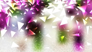 Purple Green and White Triangular Background Design