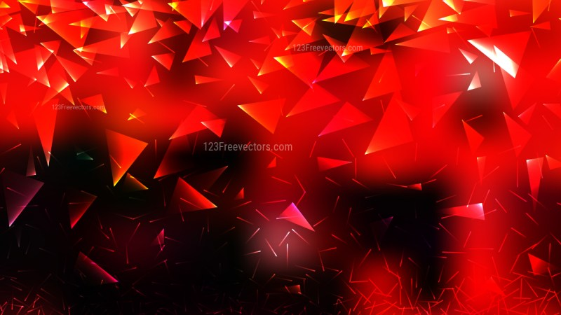 Abstract Red and Black Geometric Triangle Background Vector
